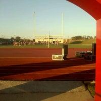Photo taken at Mustang Panther Stadium by Fred F. on 10/10/2011