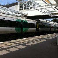 Photo taken at Horsham Railway Station (HRH) by Chris F. on 6/20/2012