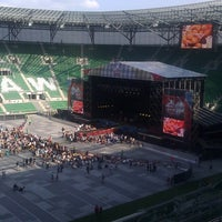 Photo taken at Stadion Wrocław by Wroclaw Official on 7/7/2012