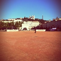 Photo taken at Place Bellecour by Jacky B. on 7/19/2011