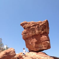 Photo taken at Balanced Rock At Garden Of The Gods by Stephanie R. on 8/26/2012