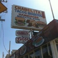 Photo taken at Chabelita Tacos by HopHeadJim on 4/27/2012