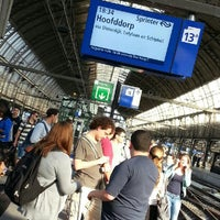 Photo taken at Sprinter Amsterdam Centraal - Hoofddorp by Thiti V. on 8/20/2012