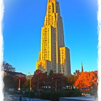 Photo taken at Cathedral of Learning by Ainsley A. on 1/24/2012