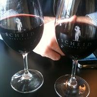 Photo taken at Scheid Vineyards Tasting Room by Liz S. on 3/24/2011