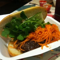 Photo taken at Num Pang Sandwich Shop by Spencer K. on 9/26/2011
