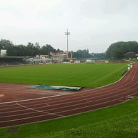 Photo taken at Stade Fallonstadion by Pierre L. on 7/28/2011