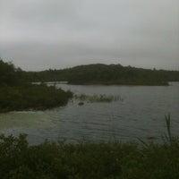 Photo taken at Albro Lake Beach by Terrance B. on 7/16/2012
