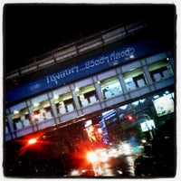 Photo taken at Asok Intersection by Mike A. on 6/1/2012