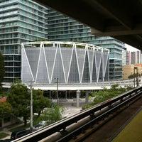 Photo taken at MDT Metromover - Brickell Station by Dena V. on 6/8/2012