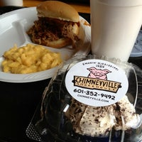 Photo taken at Chimneyville Smokehouse by McKenzie on 8/9/2012
