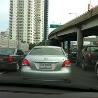 Photo taken at Express Way Petchaburi Exit by chitaphol on 6/21/2011