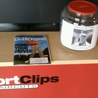 Photo taken at Sport Clips Haircuts of Mooresville by Emily E. on 3/5/2012