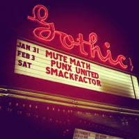 Photo taken at The Gothic Theatre by ultra5280 on 2/1/2012