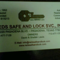 Photo taken at Red's Safe & Lock Service Inc by Michael D. on 11/14/2011