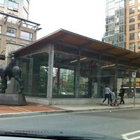 Photo taken at Yaletown - Roundhouse SkyTrain Station by Sandra H. on 7/18/2011