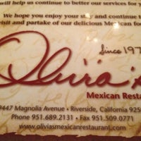 Photo taken at Olivia's Mexican Restaurant by shelly s. on 2/10/2012