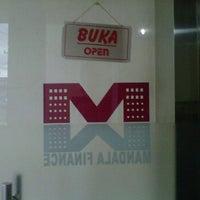 Photo taken at PT. Mandala Multifinance Tbk cabang Bandar jaya by Apinq f. on 2/21/2012
