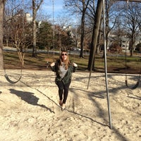 Photo taken at Fletcher Park swing set by Erin H. on 1/18/2012