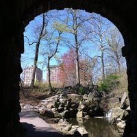 Photo taken at Central Park - The Pool by Liz T. on 4/4/2012