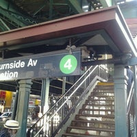Photo taken at MTA Subway - Burnside Ave (4) by 🔌Malectro 7. on 4/13/2012