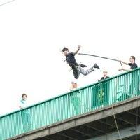 Photo taken at Мост для прыжков над р. Смотрич by Yura B. on 8/15/2012