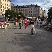 Photo taken at Östermalmstorg by Per K. on 8/25/2012