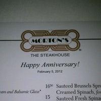 Photo taken at Morton's The Steakhouse - Boca Raton by Robert W. on 2/6/2012