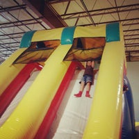 Photo taken at Bounce House Williamsburg by Geoff S. on 6/8/2012