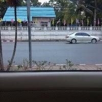 Photo taken at วัดไทร (สุราษฎร์ธานี) by Supansa P. on 7/27/2012