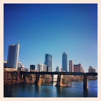 Photo taken at Pfluger Pedestrian Bridge by Will F. on 2/11/2012