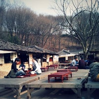 Photo taken at Korean Folk Village by jong-won j. on 3/28/2012