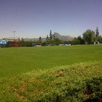 Photo taken at Canchas de entrenamiento del Estadio San Carlos de Apoquindo. by Nico O. on 3/1/2012