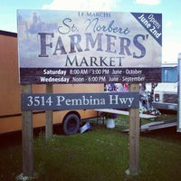 Photo taken at Le Marché St. Norbert Farmer's Market by Ben R. on 6/30/2012
