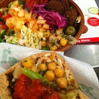 Photo taken at Maoz Falafel & Grill by corniolo . on 9/8/2012