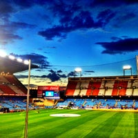 Photo taken at Estadio Vicente Calderón by ele on 8/27/2012