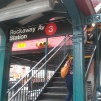 Photo taken at MTA Subway - Rockaway Ave (3) by Malvin R. on 6/11/2012