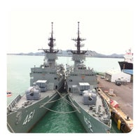 Photo taken at HTMS Chakri Naruebet by New A. on 6/8/2012