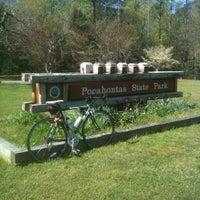 Photo taken at Pocahontas State Park by abracapocus on 4/8/2012