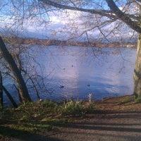 Photo taken at Green Lake Loop by Elliot M. on 4/2/2012
