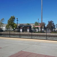 Photo taken at Hayward Park Caltrain Station by Jen R. on 7/26/2012