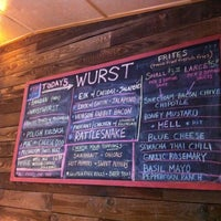 Photo taken at The Wurst Place by David R. on 4/25/2012