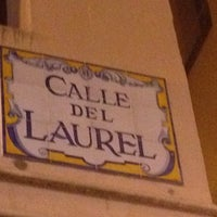 Photo taken at Calle Laurel by Guillermo C. on 4/14/2012
