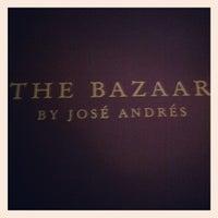 Das Foto wurde bei The Bazaar by Jose Andres von Elton L. am 6/29/2012 aufgenommen