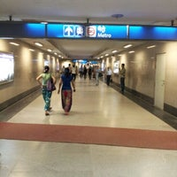 Photo taken at Rajiv Chowk | राजीव चौक Metro Station by Vikram K. on 7/2/2012
