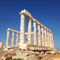 Photo taken at Cape Sounion by Meng J. on 6/18/2012