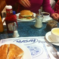 Photo taken at Masay Pizza & Sandwich by Cristian P. on 7/7/2012