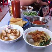 Photo taken at Mie Ayam Baso Bang Adi Kutoarjo by Garrar A. on 7/27/2012