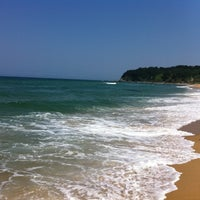 Photo taken at Sokcho Beach by Jinny K. on 7/8/2012