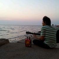 Photo taken at Wonnapa Beach by Chayanon R. on 2/6/2012